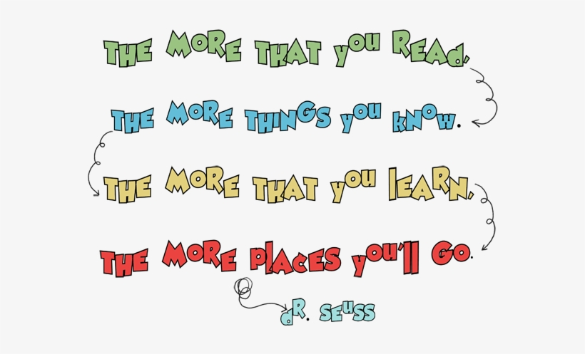 Quote Dr Seuss Png Jpg Transparent Library - Dr Seuss Quotes Png, transparent png #604154