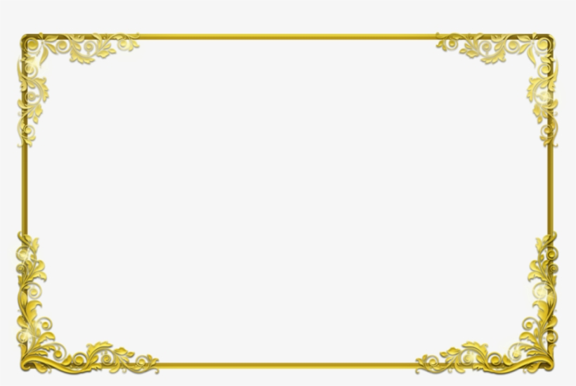 Background Frame Png Clipart Borders And Frames Clip - Gold Certificate Border Png, transparent png #604968
