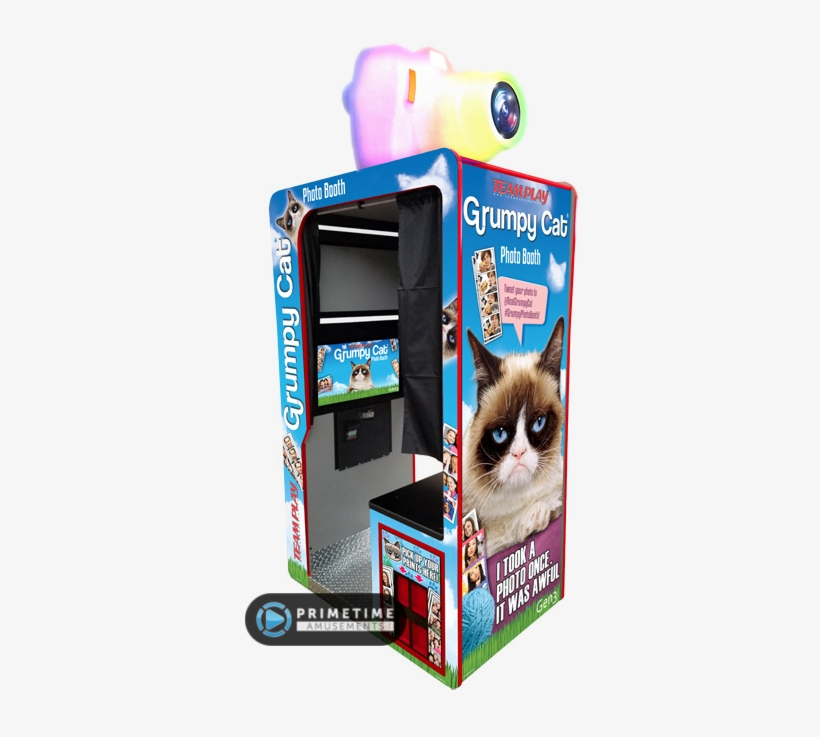 Grumpy Cat Photo Booth By Teamplay Inc - Grumpy Cat, transparent png #605545