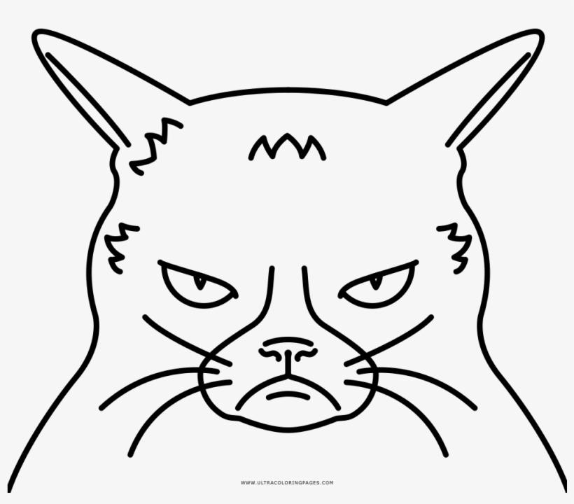 Grumpy Cat Coloring Page - Grumpy Cat, transparent png #605915