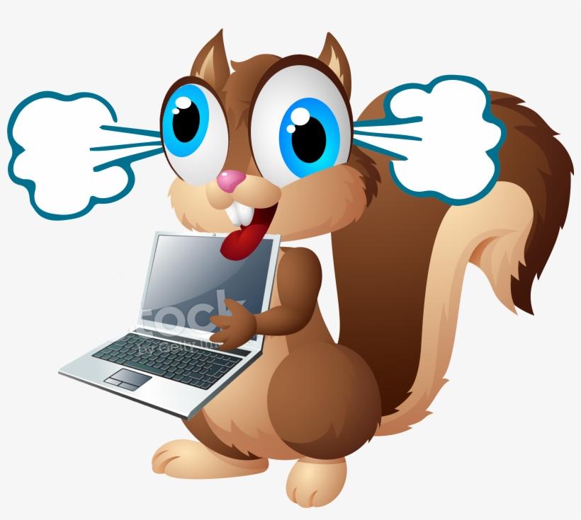Display Crazy Squirrel Laptopsteam - Cartoon Squirrel, transparent png #606287