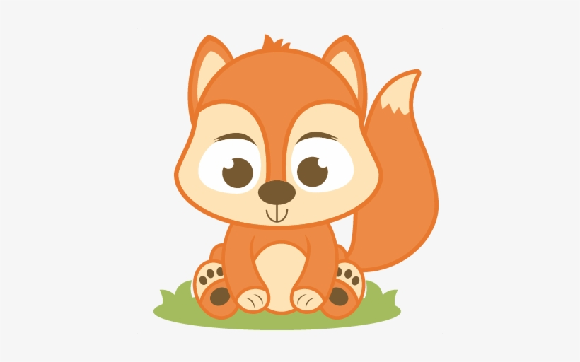 Fox baby. Red squirrel clipart png