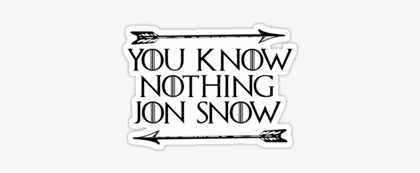 You Know Nothing Jon Snow By Mondo100 - You Know Nothing Throw Blanket, transparent png #606864