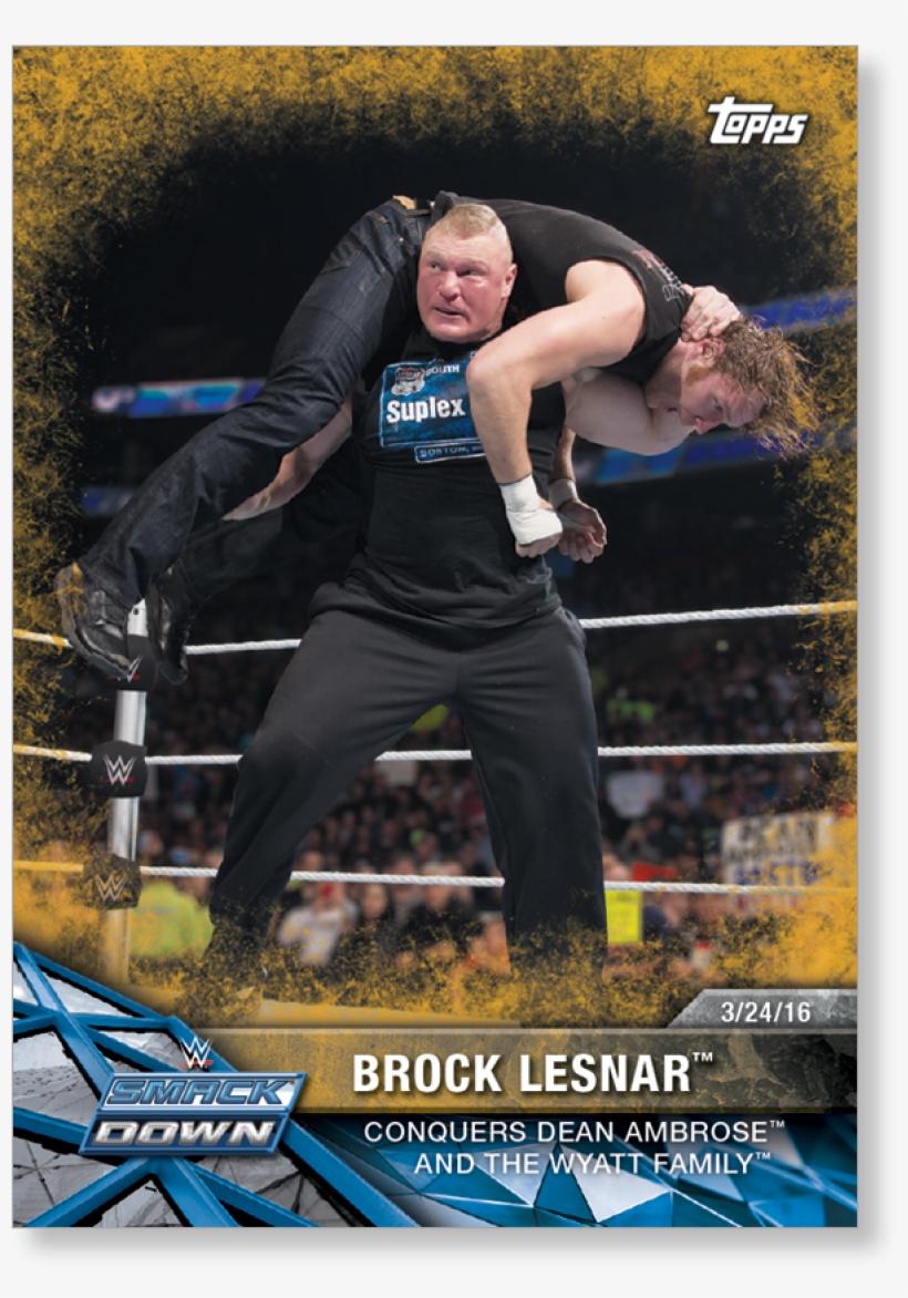 Brock Lesnar 2017 Wwe Road To Wrestlemania Base Cards - Wwe Road To Wrestlemania Trading Cards, transparent png #607590