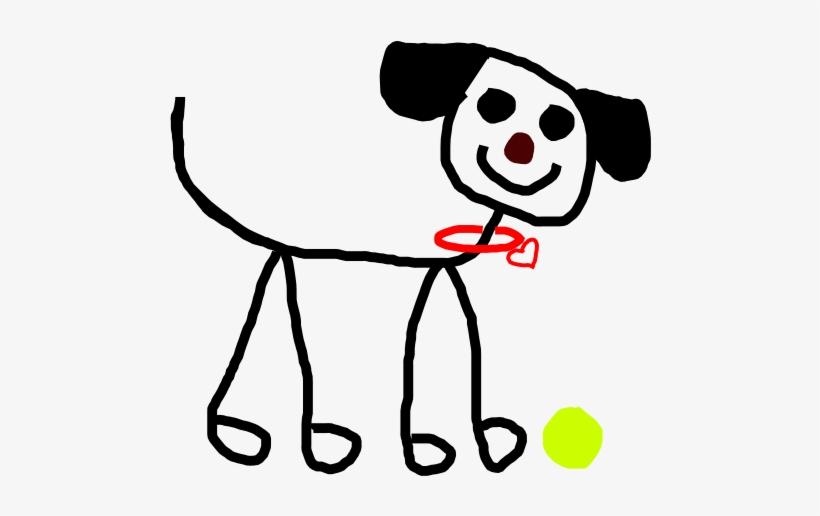 Dogs Clipart Stick Figure - Stick Figure Dog Clip Art, transparent png #607615