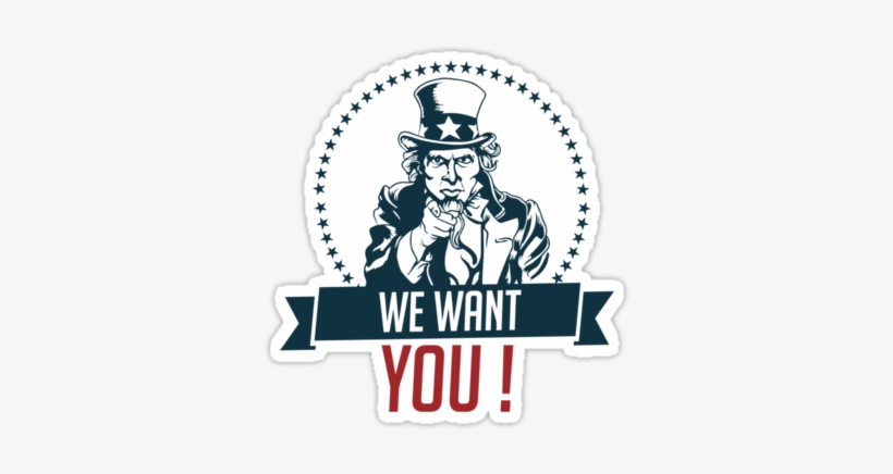 """Uncle Sam Wants You Png """" - Want You Uncle Sam Png, transparent png #607772"""
