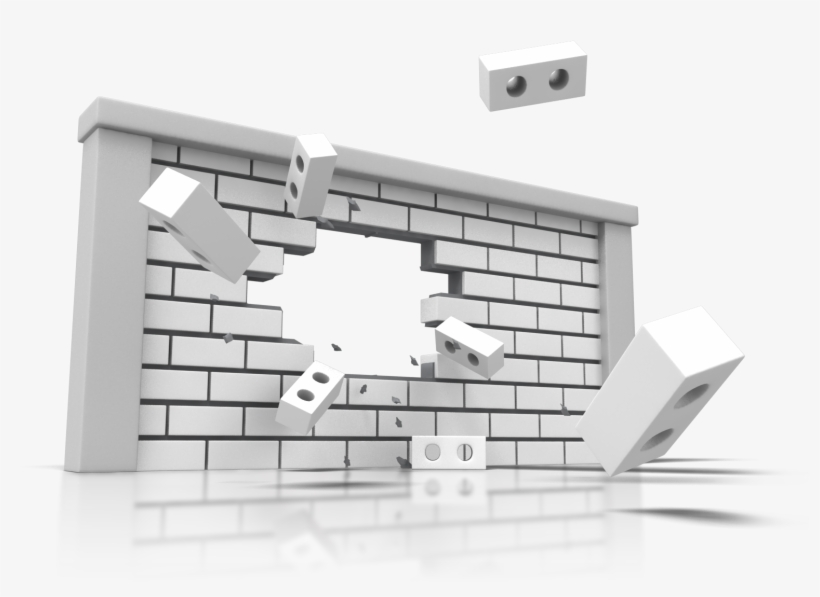 Broken Brick Wall Png For Kids - Portable Network Graphics, transparent png #608188