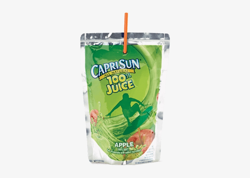 Capri Sun® Apple Juice - Capri Sun 100% Juice Blend, Fruit Punch - 6 Fl Oz, transparent png #608480