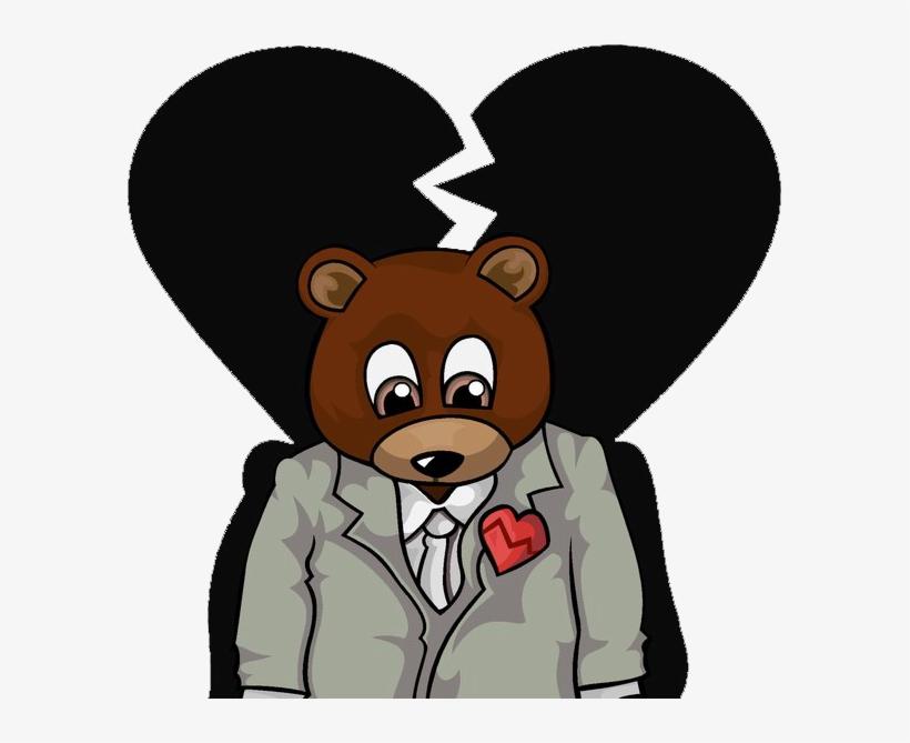 Kanye West Clipart Png - Kanye West Heartless Bear, transparent png #608813