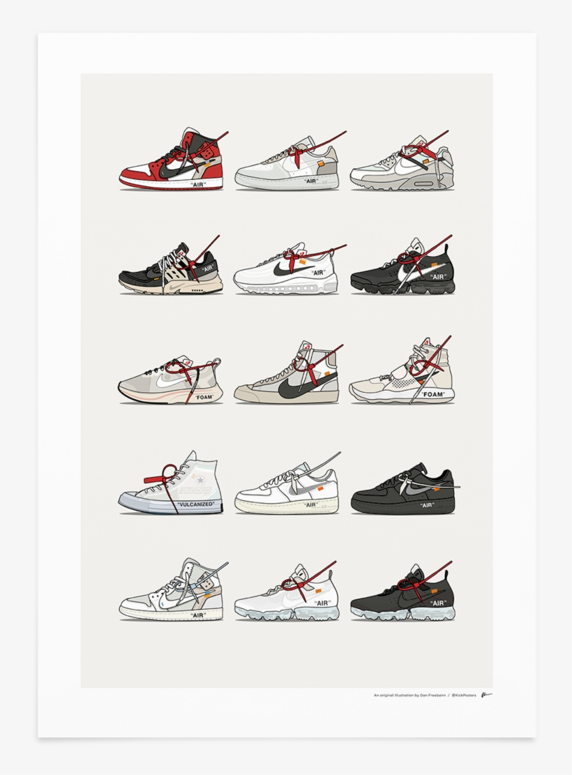 Off-white Collection Poster Kickposters - Off White Nike Collection, transparent png #609771