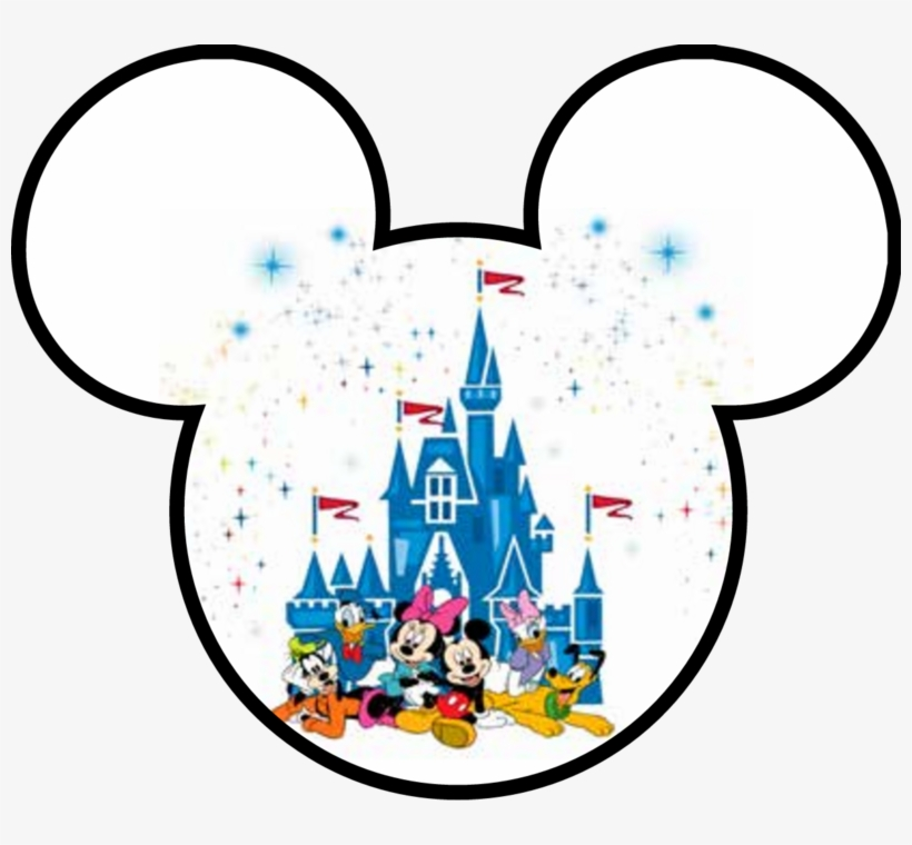 Disney Family Trip 2019 Mickey Head Silhouette Outline - Disney Magic Kingdom, transparent png #6020972