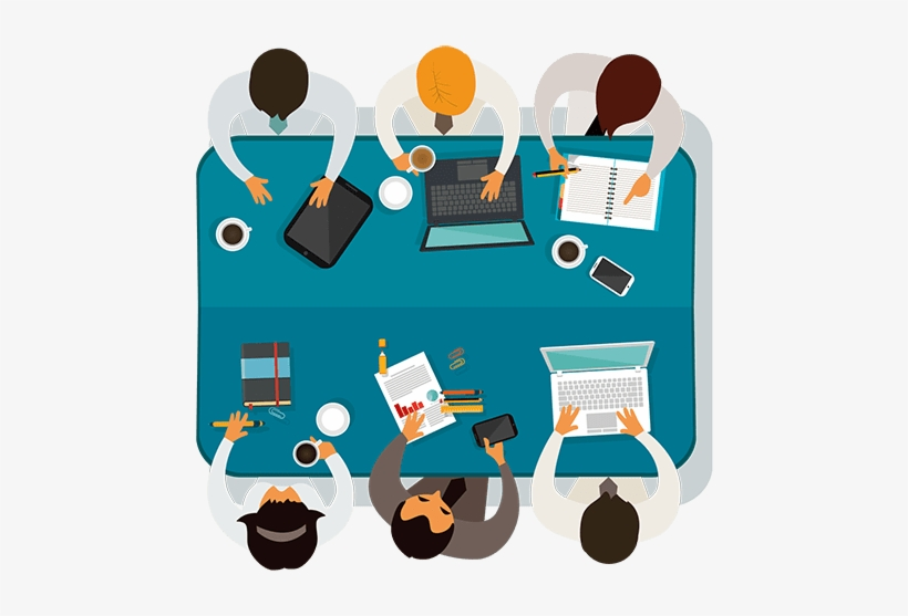 We Are A Blockchain Consultancy And Implementation - Team Meeting Clipart Png, transparent png #6028762