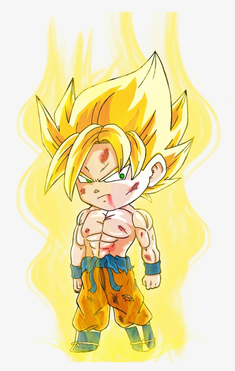 Pra Quem Está Procurando Chibi Do Dragon Ball Em Png - Chibi Goku Super Saiyan, transparent png #6047134