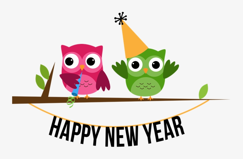 I Want To Wish You All A Very, Very Happy New Year - Happy New Year Owl Clip Art, transparent png #6048045