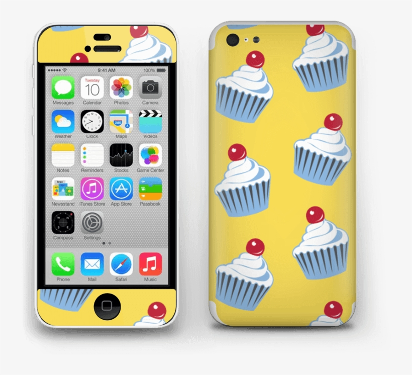 Cute Small Cupcakes Skin Iphone 5c - Iphone 4s Vs Iphone 8, transparent png #6048591