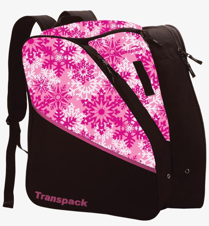 Pink Snowflake Style - Transpack Edge Junior Ski Boot Bag 2018, transparent png #6048736