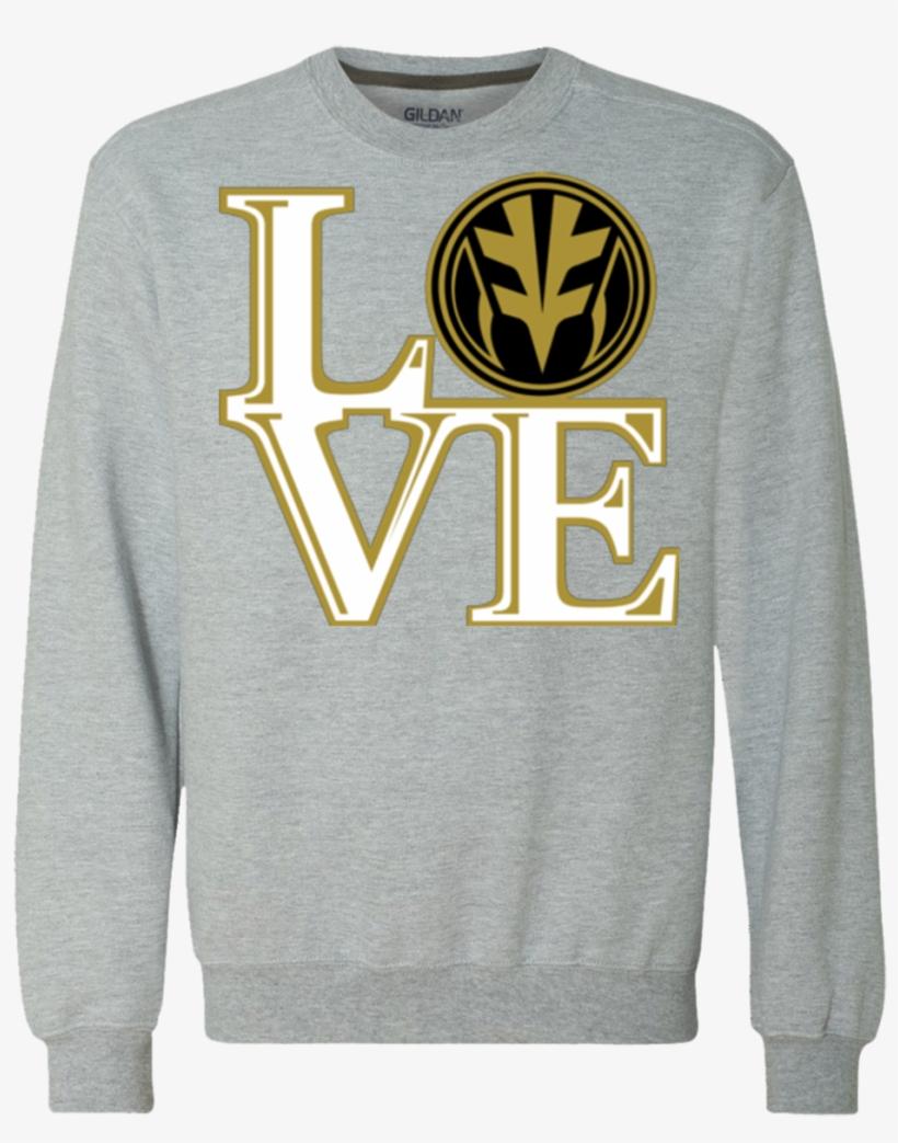 White Ranger Love Premium Crewneck Sweatshirt - Badass Superhero Heavyweight Crewneck Sweatshirt 9, transparent png #6053498