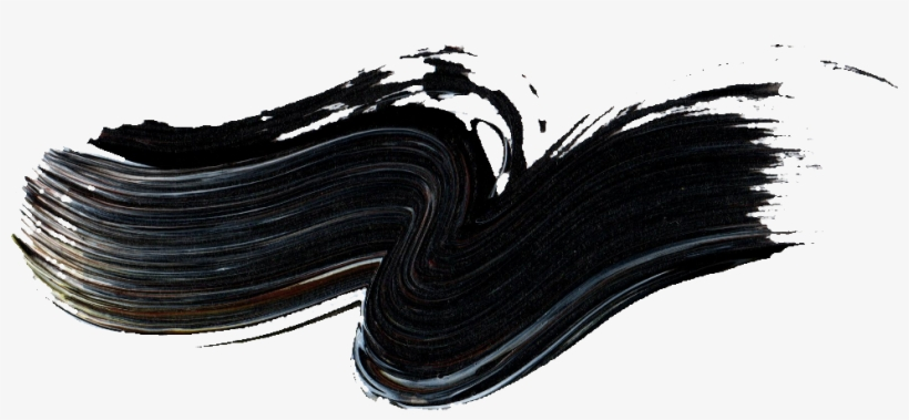 Black Paint Stroke Png - Black Paint Brush Strokes, transparent png #6058675