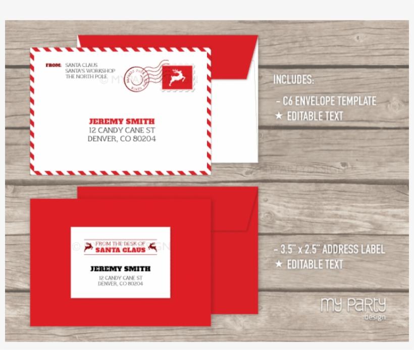 Envelope Clipart Envelope Design - North Pole Letter From Santa Envelope Printable, transparent png #6065300