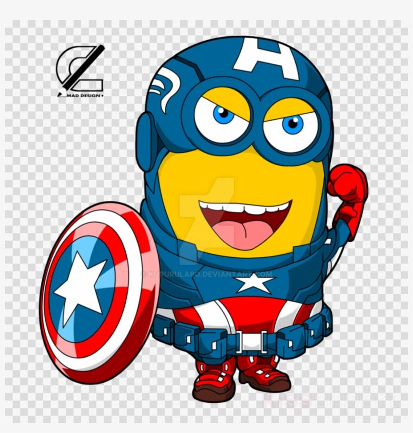 Minion Captain America Clipart Captain America Minions - Punto De Cruz El Escudo De La America, transparent png #6066809