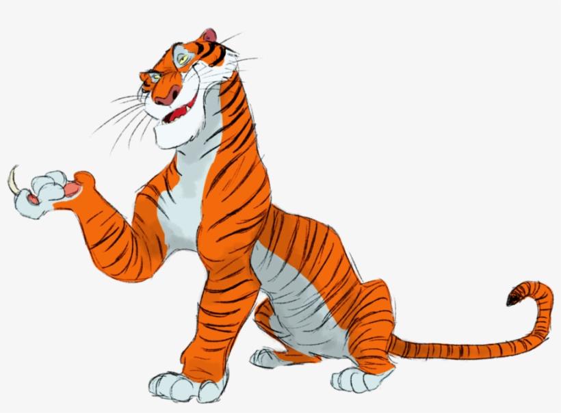 Evil Disney Characters, Disney Villains, Disney Silhouettes, - Jungle Book Shere Khan Png, transparent png #6071199