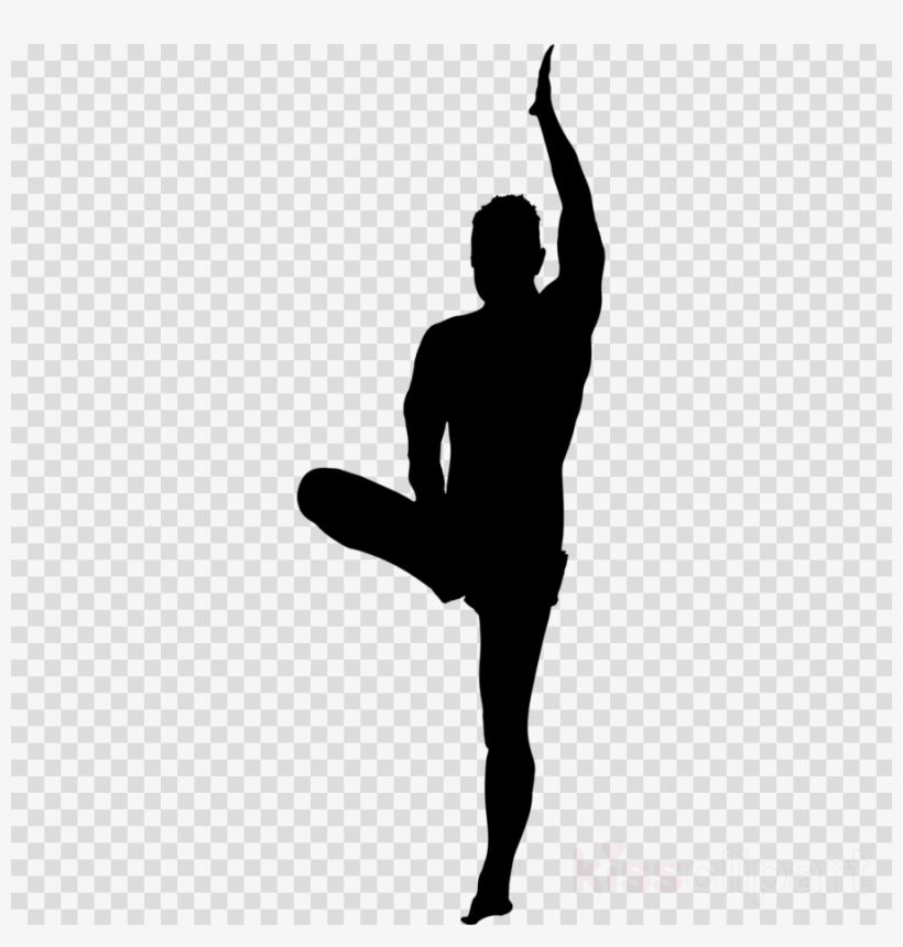 Yoga Poses Silhouette Male Clipart Yoga Clip Art Free Transparent Png Download Pngkey