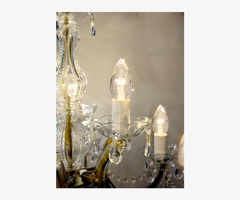 Led Lamp E14 C35 Diamond - E14 0.9 W Led Candle Bulb Twisted, Clear, 2100 K, transparent png #6074297