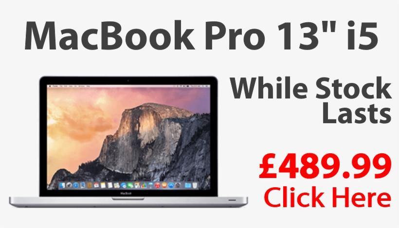 "Macbook Pro 13"" I5 £489 - Apple Macbook Air 13.3 Z0rj000f6 Core I5 Laptop, transparent png #6097257"