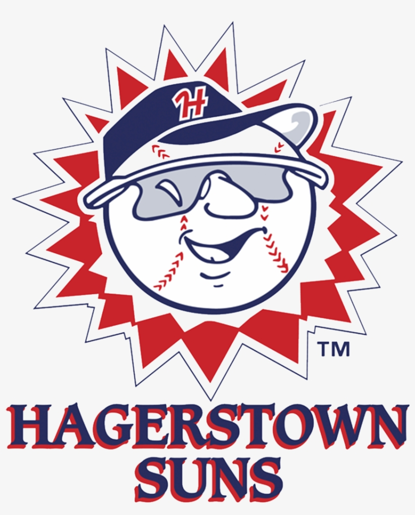 While The Logos Of The Hagerstown Suns And Their Parent - Hagerstown Suns Logo, transparent png #611236