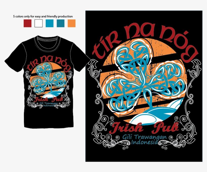 Irish Pub T-shirt From Indonesia Logo Design Concepts - Indonesia T Shirt Design Hd Png, transparent png #612246