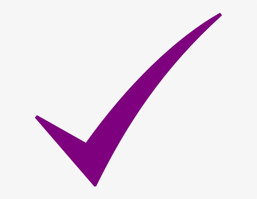Check Mark Purple Clip Art Red X Mark Icon Transparent - Purple Check Mark Png, transparent png #612292