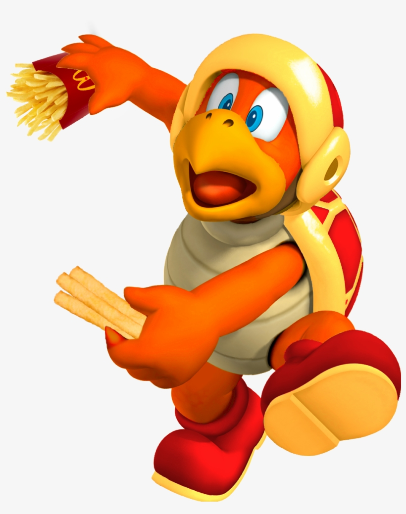 French Fry Bro - Ice Bro Mario, transparent png #612588