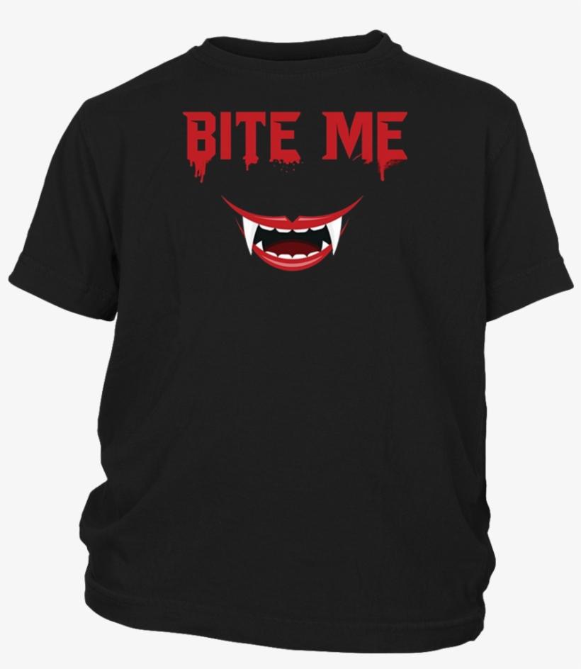 Bite Me Halloween T-shirt - Apkshirt Bite Me Halloween T-shirt - Vampire Teeth, transparent png #613022