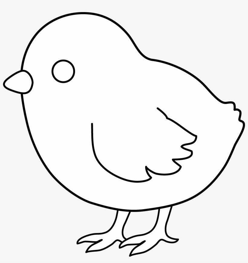 b38e8efa1e4 Cute Colorable Baby Chick - Baby Chick Clip Art Black And White Free ...