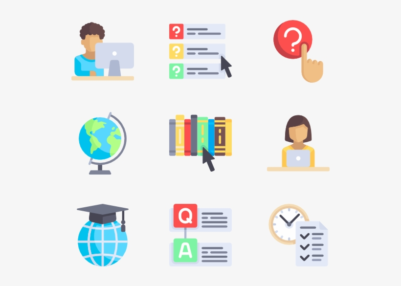 E-learning 100 Icons - E Learning Icons Free, transparent png #614965