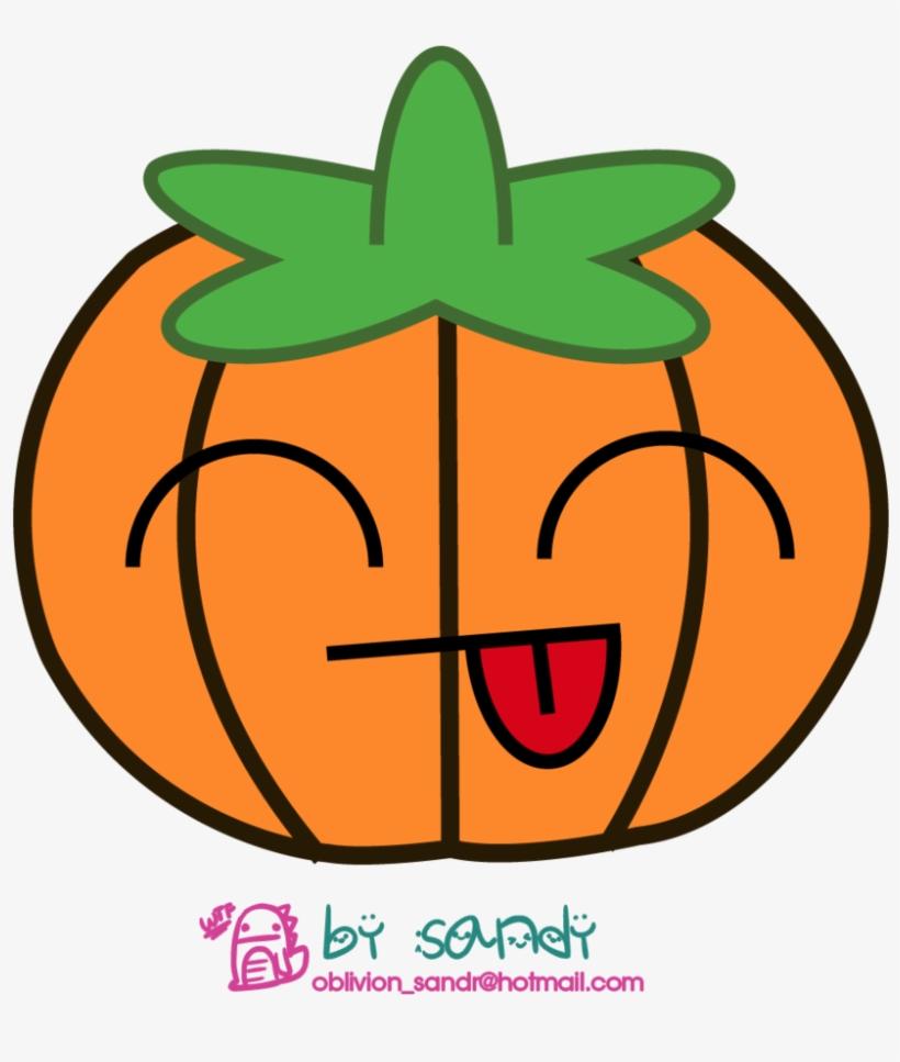 Kawaii Pumpkin By Sandy-oblivion On Deviantart Vector - Kawaii Pumpkin, transparent png #615705
