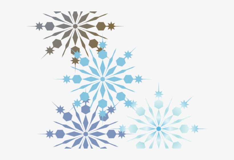 Snowflakes Clipart Boarder - Snowflake Corner Cliparts Border Png, transparent png #617568