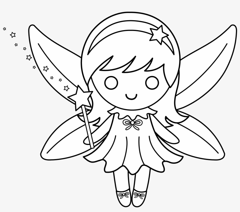 Cartoon Fairy Drawing At Getdrawings - Draw A Fairy Easy