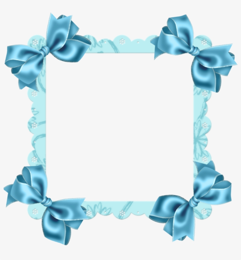 Sky Blue Flower Border, transparent png #618000