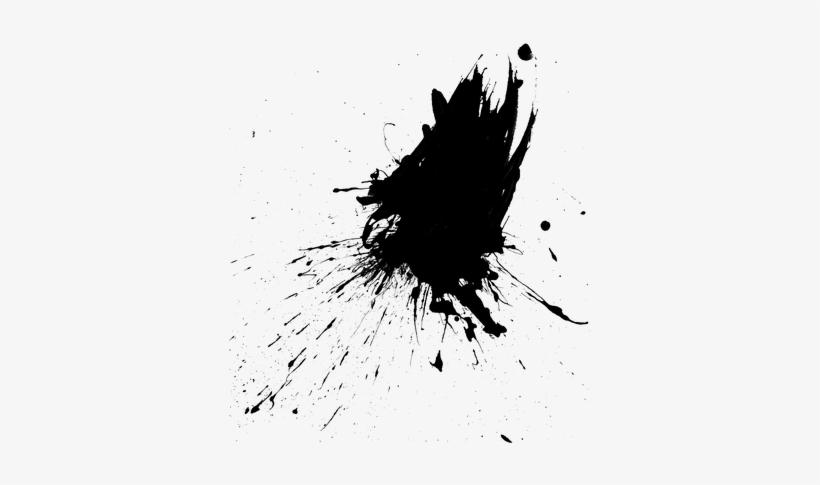 Black Paint Drips Png - Paint Splatter Drips, transparent png #618694