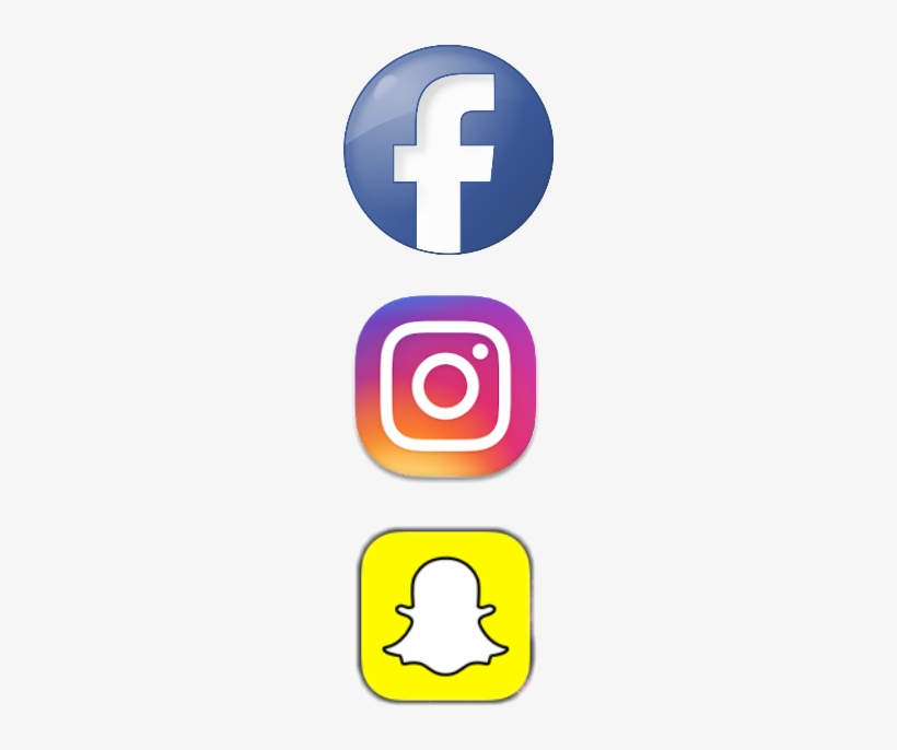 Logo New Png Transparent - Facebook Instagram Snapchat Logo, transparent png #619148
