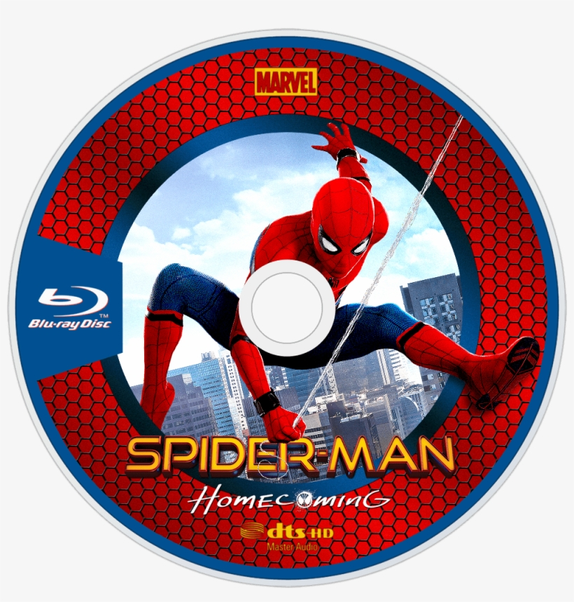 Homecoming Bluray Disc Image - Spider Man Homecoming Blu Ray Disc, transparent png #619684