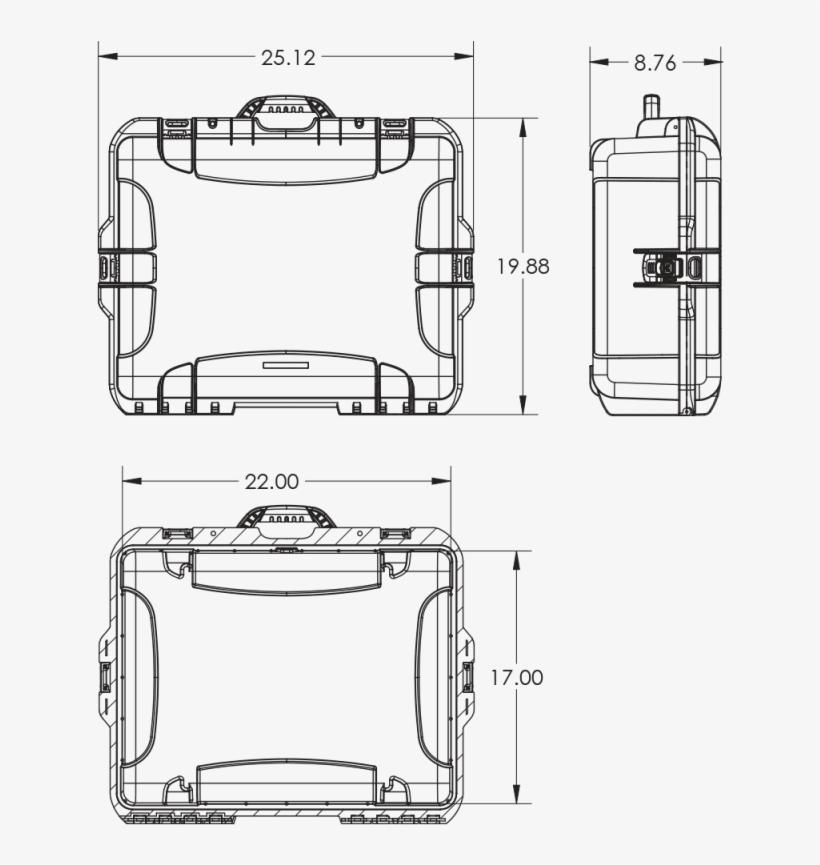 Dimensions Of The Nanuk 945 Dji Phantom Case Hard Case - Dji Phantom 4 Drawings, transparent png #6105267