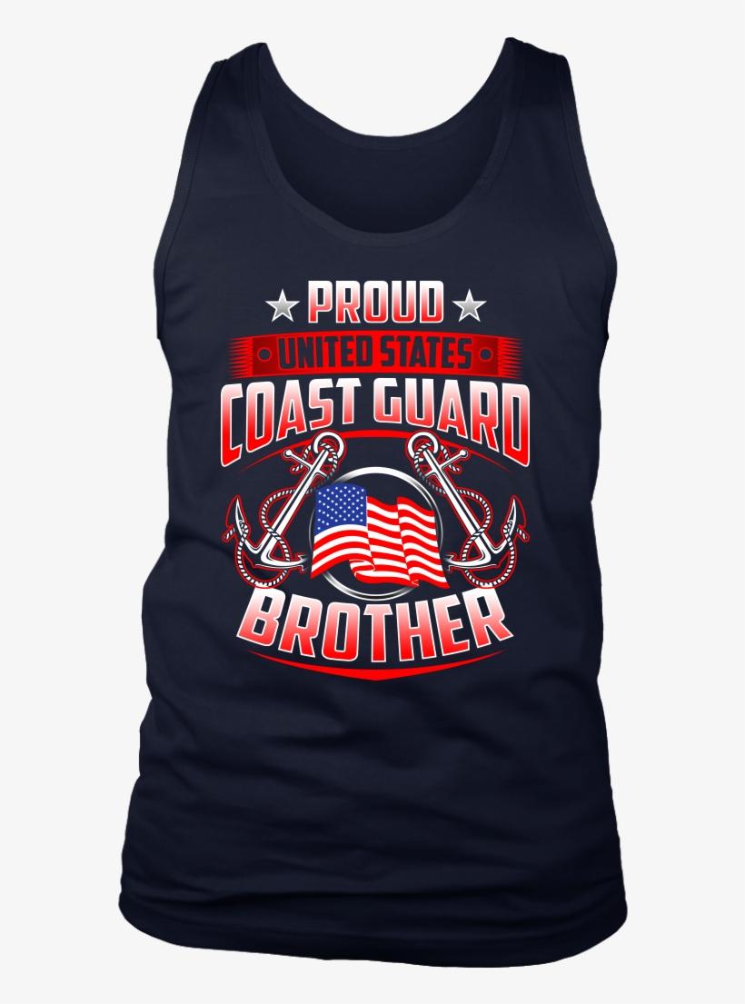 Proud Coast Guard Brother Mens Tees Long Sleeves