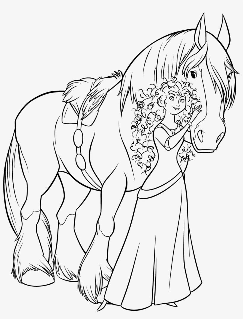 Merida Angus Desenho Para Colorir Princesa Valente Free