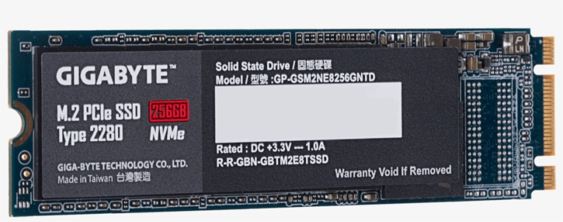 Starting At The Lowest Capacity, The 128gb Nvme Drive - Gigabyte Ssd M 2 256gb Nvme, transparent png #6122335