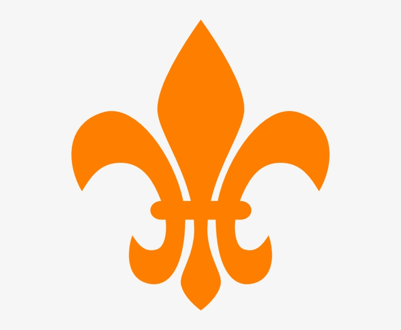 New Orleans Saints Outline Vector Images Gallery - Gold Fleur De Lis Png, transparent png #6132490