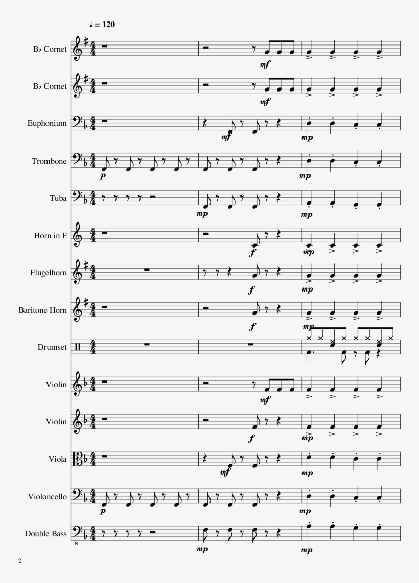 Dynamite Sheet Music Composed By By Koby Saunder & - Music, transparent png #6134243