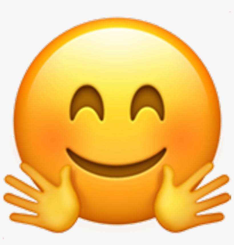 Emoji Smiley Face Smile Fun Heart Black Love Puppy - Jazz Hands Emoji Transparent, transparent png #6144650