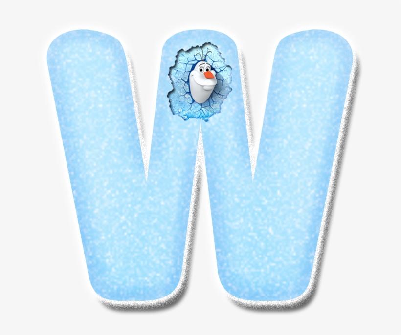B *✿* Frozen Font, Creative Lettering, Lettering Ideas, - Disney Frozen Muursticker - Olaf De Sneeuwpop - 43, transparent png #6149344